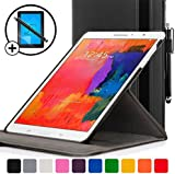 ForeFront Cases® New Leather Rotating Case Cover for Samsung Galaxy Tab PRO 10.1 T520 (Released March 2014) - Full device protection and Smart Auto Sleep Wake function with 3 YEAR FOREFRONT CASES WARRANTY + STYLUS & SCREEN PROTECTOR