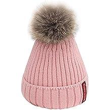 911eb0064adabb Fuibo Baby Mütze, Infant Baby Kinder Jungen Mädchen Cute Ball Gestrickte  Crochet Beanie Winter Warme