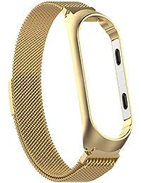 ❀para Xiaomi Mi Band 3, Correa de Banda de Reloj magnética milanesa pequeña de