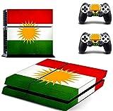 Playstation 4 PS4 Skin Kurdistan - Console + 2 Controller - kurdische Flagge - Zozan - Aufkleber