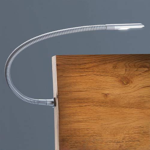 Hasena LED Bettleuchte Smart, Lampe zur Montage am Kopfteil des Betten, Set bestehend aus 2 Leuchten Farbe Schwarz -