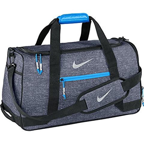 Nike, Borsa A Spalla Uomo, Colore Nero/Argento/Blu, Taglia Unica - Bag Obsidian
