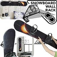 Soporte de pared para snowboard (100% Acero) (Negro)