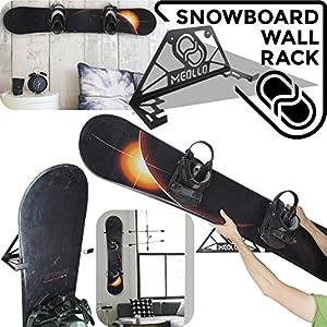 Snowboard wandhalterung (100% Stahl) (schwarz)