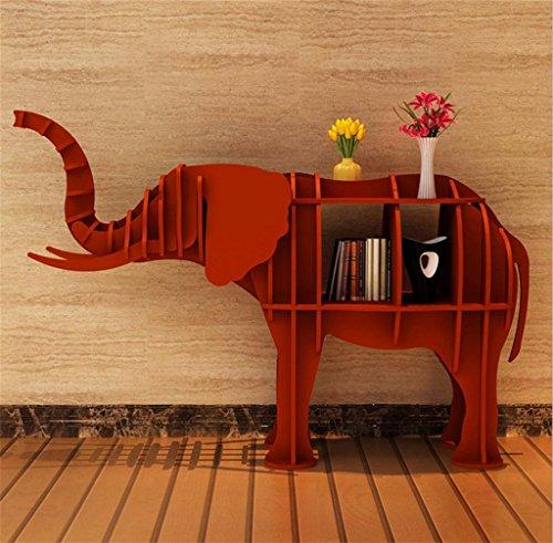 DZW Creative-Regal Regal Elefant-Tier Modellierung Regal Tabelle Hotel Store Art Deco Art Fenster Boden Dekoration Größe frei wählbar, Red, 177 * 52 * 120cm Tuba, Holz zu Bauen