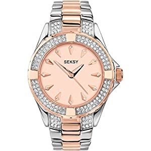 SEKONDA Women's Analogue Quartz Watch with Stainless Steel Strap 4233.37