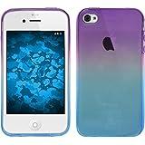 Funda de silicona para Apple iPhone 4S - Ombrè Design:04 - Cover PhoneNatic Cubierta + protector de pantalla