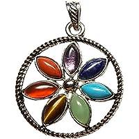 KRIO® - Chakra Anhänger mit 7 verschiedenen Steinen, Talismann, Glücksbringer preisvergleich bei billige-tabletten.eu
