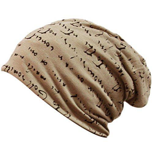 THENICE-Unisex-lettera-Cappello-Beanie-Cuffia-Berretto-Cap-Beige