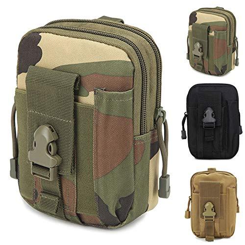 ZhaoCo Taktische Hüfttaschen, Nylon Militär Kompakt MOLLE EDC Tasche Gürteltasche Beutel Taille Taschen für Gadget-Dienstprogramm Handy Camping Wandern und Reisen - Tarnung -