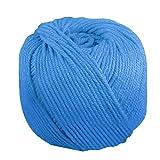 170 mx 4 mm cuerda de algodón para tejer cuerda de bricolaje Bohemia macrame decoración de pared artesanía hecha a mano azul