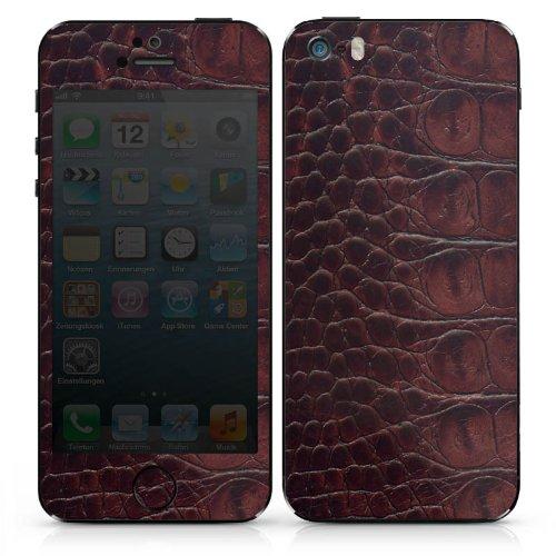 Apple iPhone 5 Case Skin Sticker aus Vinyl-Folie Aufkleber Krokodilleder Look Krokodil Muster DesignSkins® glänzend
