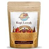 Monkey Business Coffee - Wilde Kopi Luwak Koffie Hele Bonen - Ethisch Ingekocht - 50 Gram (Andere Gewichten & Bonensoorten Ook Beschikbaar) - Producten uit Indonesië
