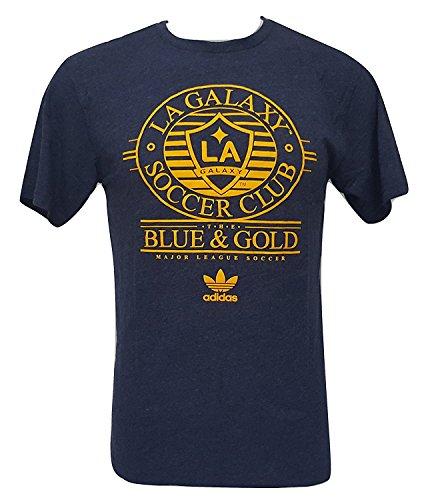 adidas MLS Los Angeles Galaxy Men's T-Shirt Blue & Gold (Small) -