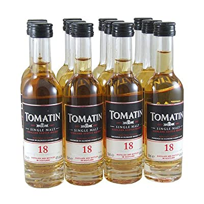 Tomatin 18 year old Single Malt Scotch Whisky 5cl Miniature - 12 Pack by Tomatin