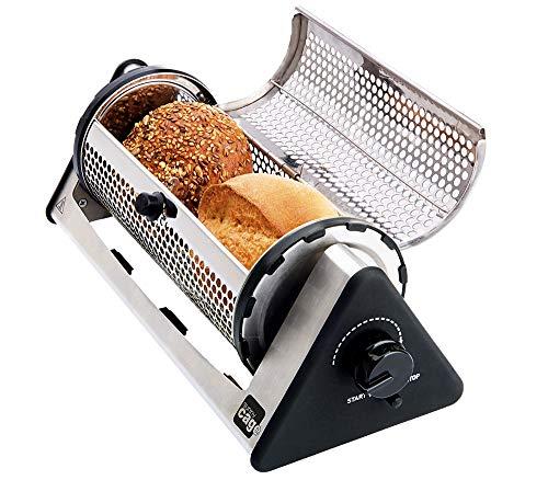 Sunny Cage Brötchenaufsatz für Toaster Langschlitztoaster gebürsteter Edelstahl