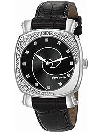 Pierre Cardin Damen-Armbanduhr Fresque Analog Quarz Leder