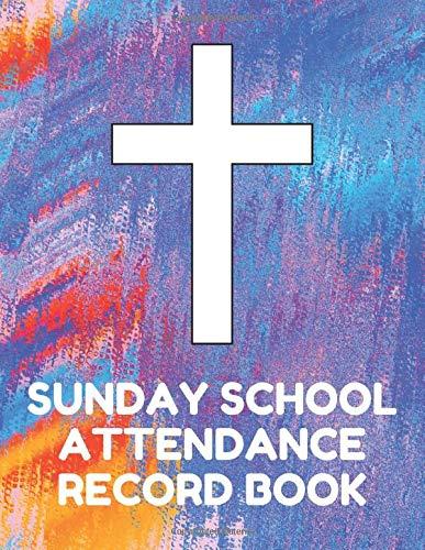ance Record Book: Attendance Chart Register for Sunday School Classes, Aqua Cover ()