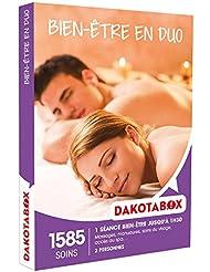 DAKOTABOX - Coffret Cadeau - BIEN-ÊTRE EN DUO - massages, manucures, soins du visage, accès au spa