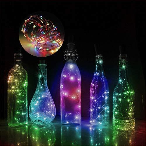 (Mitlfuny 3 Meter 30 LED Warmweiß Kupferdraht Lichter String Starry LED Lichter FüR Flasche DIY,Party,Dekor, Weihnachten, Halloween Oder Stimmung Lichter)