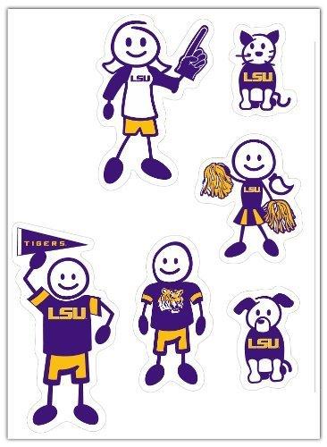 NCAA LSU Tigers Klein Familie Aufkleber Set von Siskiyou Gifts CO, Inc.