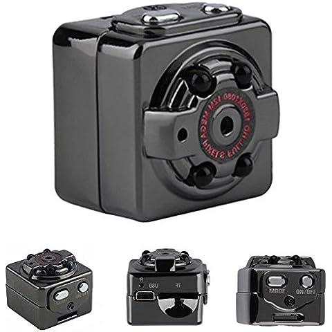 Rasse® Video Recorder HD 1080P 30fps Pocket Digital videocamera portatile ultra-mini metallo DV di movimento di sostegno che rileva con IR visione notturna (SQ8)