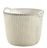Runder Wäschekorb mit Strickoptik