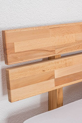 Futonbett/Massivholzbett Wooden Nature 03 Kernbuche geölt – Liegefläche 180 x 200 cm (B x L)