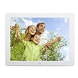 Mikolotuk Digital Photo Frame Digital Picture Frames 12 Inch Digital Photo Frame 1280x800 LED Electronic Album Player (White EU)