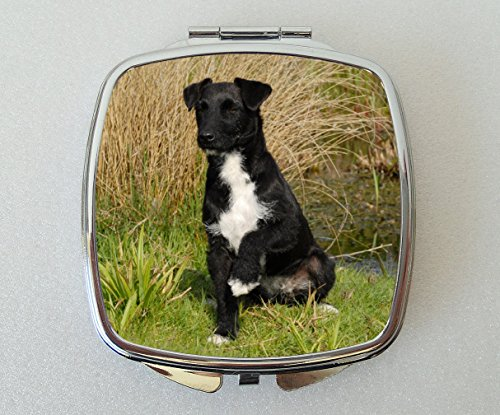 Starprint Sublimation Patterdale Terrier Miroir Compact Fantaisie Cadeau