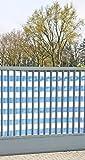 Sichtschutz blau-weiß 500x180 cm (1,88 EUR / 1m²)