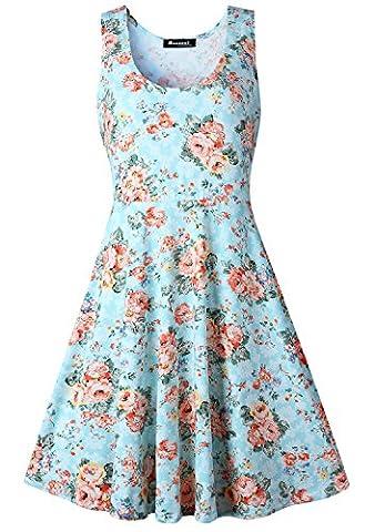 Measoul Women's Cocktail Casual Dress X-Large / Uk 14 Light Blue