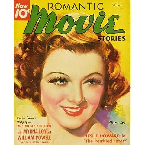 Myrna Loy poster del film Romantic Movie Stories Magazine, 1930–B 11x 17in da 28x 44cm
