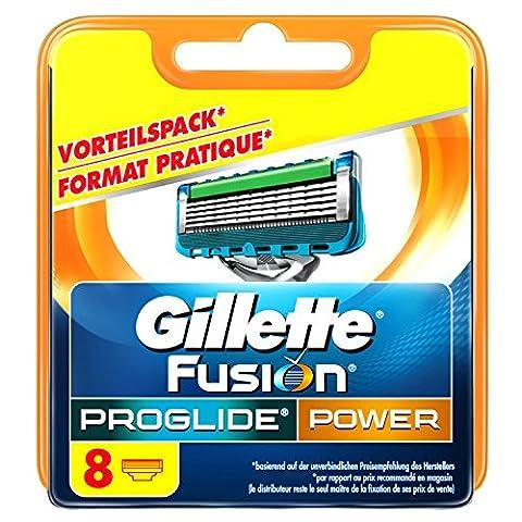 Gillette Fusion ProGlide Power Lot de 8lames de rasoir pour hommes