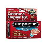 Dentemp Notfallset zur Gebissreparatur mit einfacher und sicherer Anwendung, für 3 Reparaturen