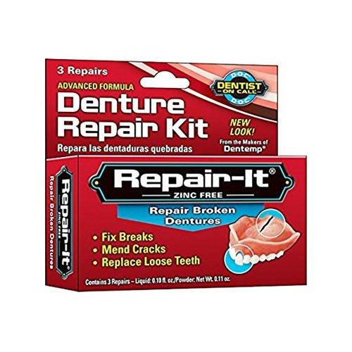 Dentemp Notfallset zur Gebissreparatur mit einfacher und sicherer Anwendung, für 3 Reparaturen -