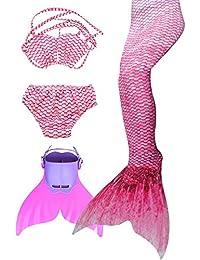 SPEEDEVE Mädchen Meerjungfrauenschwanz Zum Schwimmen mit Meerjungfrau Flosse