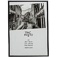Cadre photo noir, modèle Marbla3,format A3(29,7x 42cm) pour un diplôme, une affiche, une photo, avec vitre de sécurité en plastique
