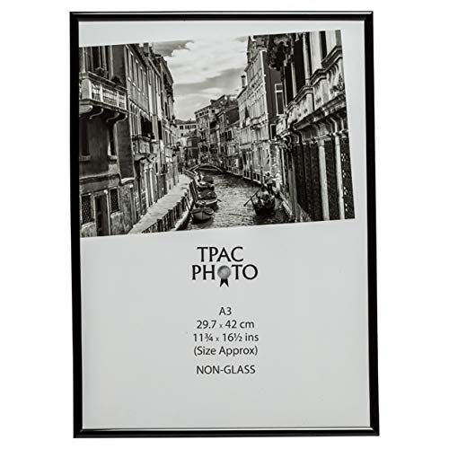 l'album photo société a3 29,7 x 42 cm dos chargeur non verre certificat/photo/cadre photo-noir