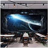 3D wallpaper Ustom 3D Fototapete Cosmic Space Cabin Raumschiff Wandmalerei 3D Restaurant Hotel Internet Gaming Room Wandbild Kleber senden 200x140cm