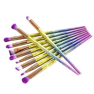 10 Stücke Make-Up Pinsel Set Professionelle Gesicht Lidschatten Eyeliner Foundation Blush Lip Make-Up Pinsel Pulver Flüssigkeit Creme Kosmetik Blending Pinsel Werkzeug (A)