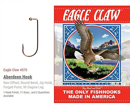 Eagle Claw 570 10 – PREMIUM QUALITÄT – Aberdeen 90 Grad Round Bend Jig, Bronze-Finish