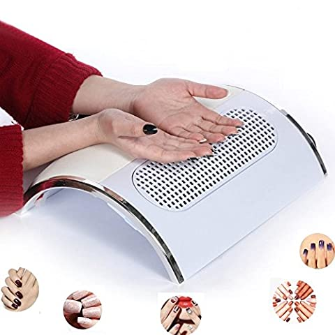 HailiCare Nail Dust Collector Suction Fan with 2 Dust Collecting