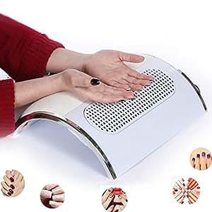 Unghie Aspirazione Polvere, HailiCare Polvere Aspirazione Collettore Chiodo Aspirapolvere Manicure Pulizia Macchina con 2 Sacchetti di Raccolta Polveri Nail Art Macchina