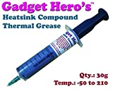 Gadget Hero's Thermal Grease Paste ISOL 6 Heat Sink Compound for CPU and Chipsets (Grey, 30g)