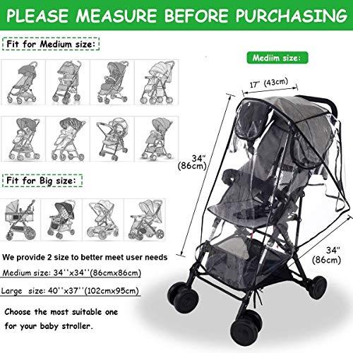 3c617073a ... Wemk protector de lluvia universal para silla de p... Imagen para  Amazon; Imagen para Amazon ...