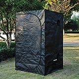 Outsunny Portable Culture hydroponique Bud Box jardinage plantes d'intérieur Tente de Green Room Mylar 100x 100x 200cm