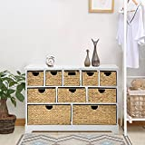 LIFE CARVER Large Storage Chest of Drawers with Baskets Hallway Bathroom Basket Storage Unit Cabinet with Solid Sides and Back (10 drawers)