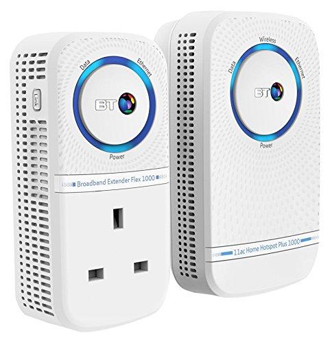 BT 11ac Home Hotspot Plus 1000 Wi-Fi Extender - White