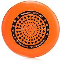 Delicacydex Ligero Tamaño portátil 27 cm Ultimate Flying Disc Niños Adultos Jugar Juegos de platillo Volante al Aire Libre - Naranja